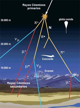 Resultado de imagen de Trazas de partículas en los rayos cósmicos